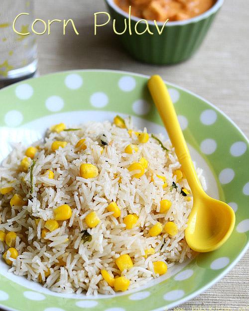 corn pulav recipe