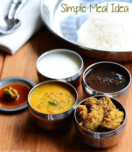 Lunch Menu 2 South Indian Easy Lunch Ideas Raks Kitchen