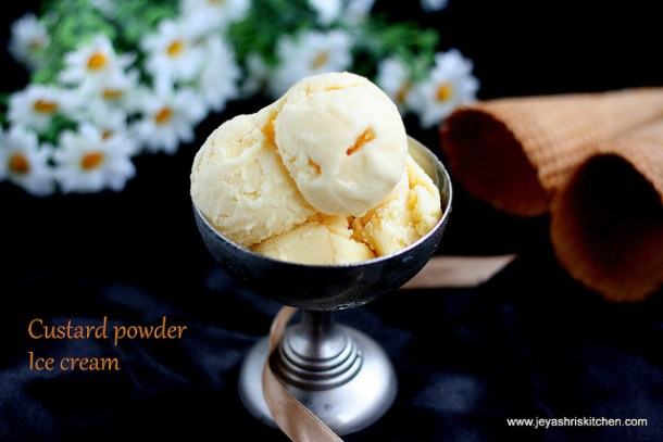 Custard powder ice cream recipe