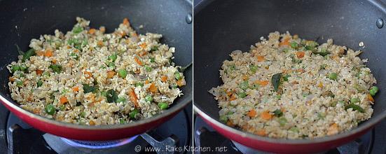 how to make oats upma step3