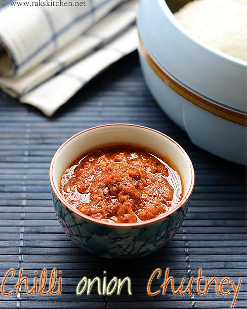 chilli onion garlic curry leaves chutney