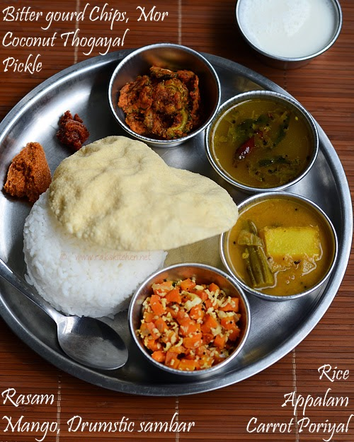 South Indian lunch menu 34
