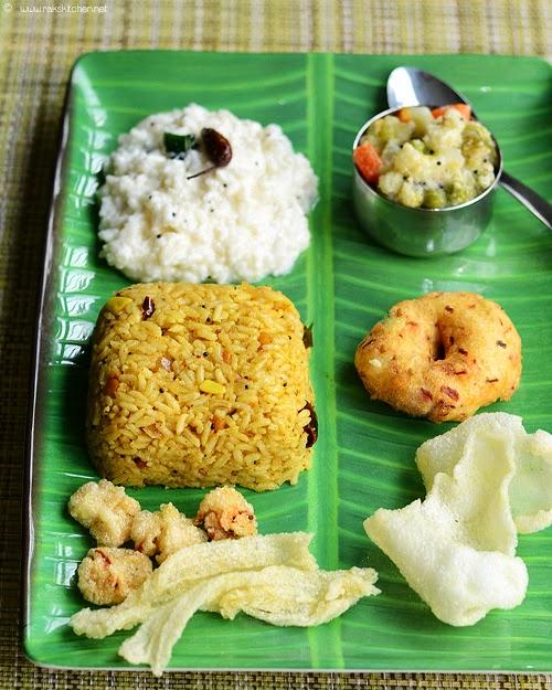 Puli sadam, mixed vegetable kootu