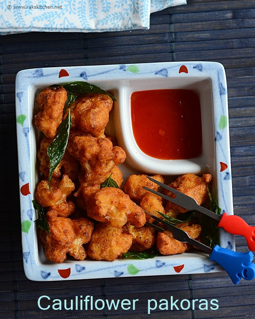 cauliflower pakora recipe