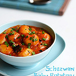 schezwan baby potatoes