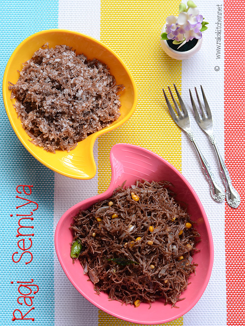 Ragi semiya recipe Sweet and upma