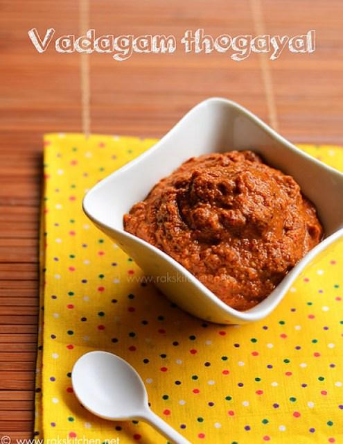vadagam-thogayal-recipe