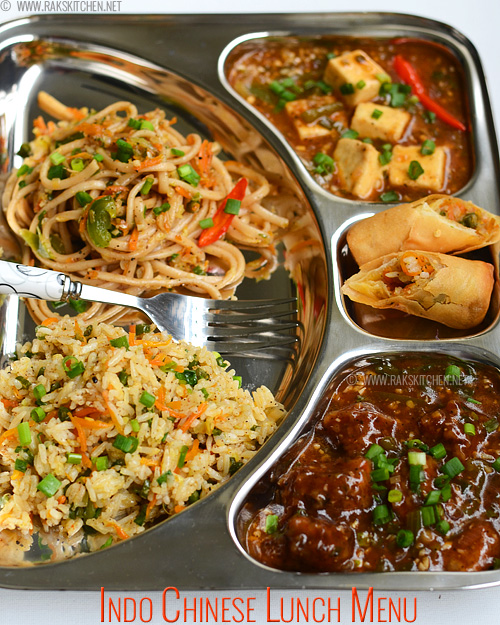 Indo Chinese Lunch Menu Platter 60 Raks Kitchen