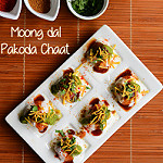 Moong dal pakoda chaat