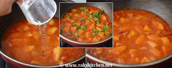 how to make rasawala aloo step 5