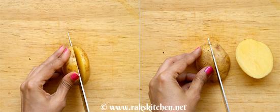 Potato wedges making 1