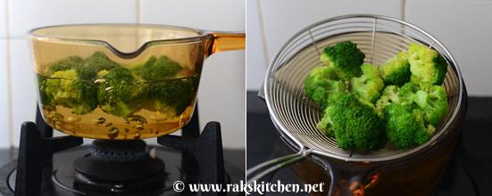 Broccoli sweet potato tikki step 2