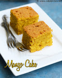 Eggless mango cake recipe