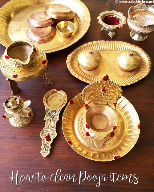 how to clean brass pooja items