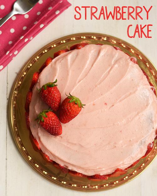 دستور العمل بدون تخم-توت فرنگی-کیک