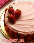 کیک بدون تخم-توت فرنگی