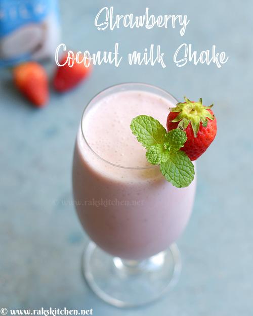 توت فرنگی-نارگیل-شیر-لرزش