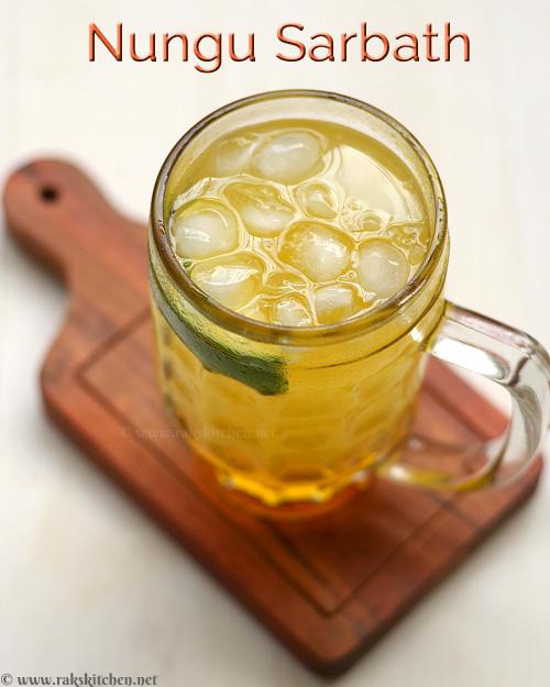 Receita Nungu Sarbath, Refrigerante de verão 6