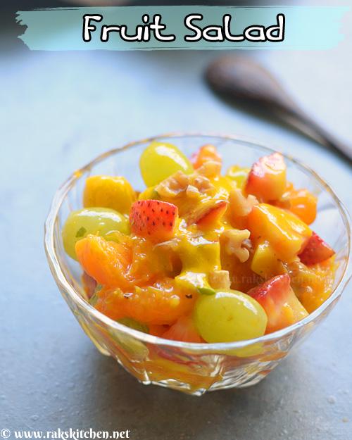 Salada de frutas, molho de hortelã tropical 3
