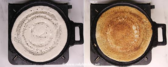 Bajra dosa, método de fermentação dosa milheto Pearl 3