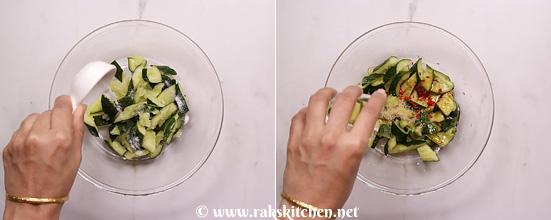 Receita de salada de pepino esmagado - Cozinha Raks 7