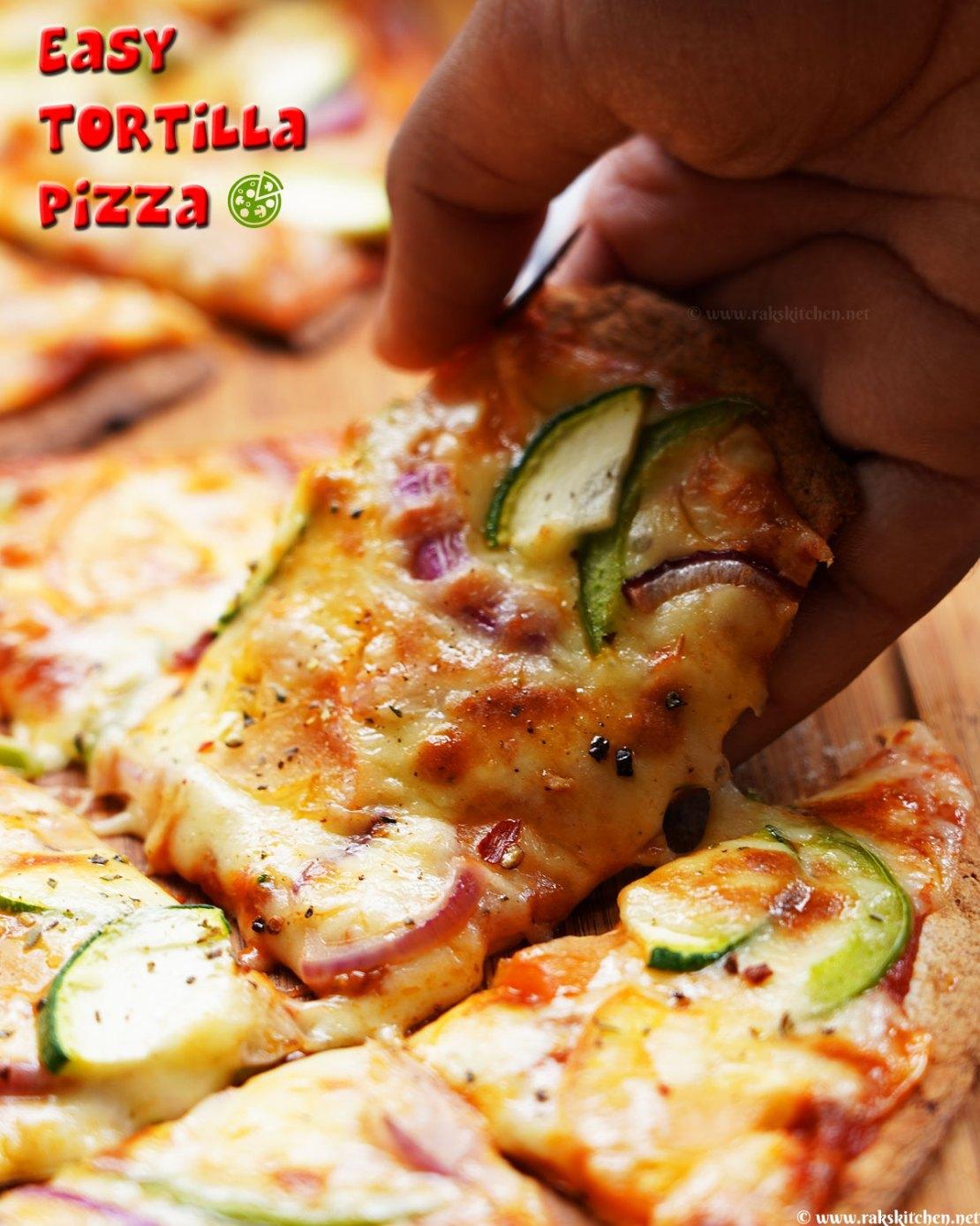 Tortilla pizza