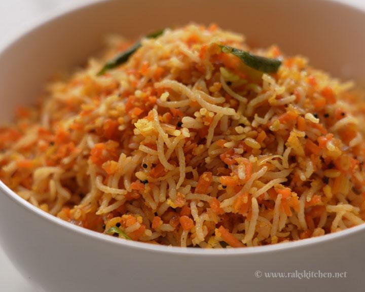 hot carrot rice