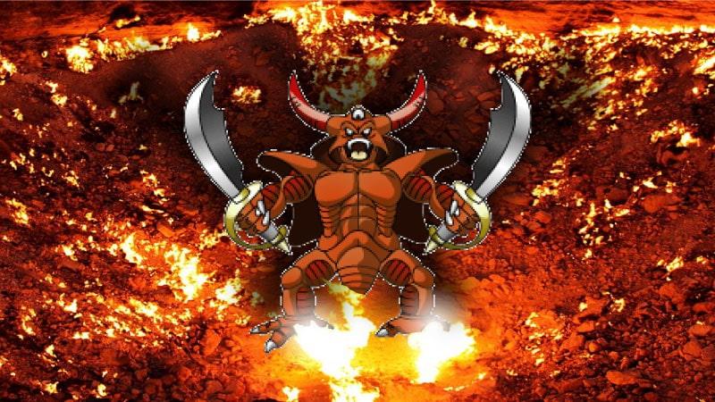 地獄の門とエスタークの画像