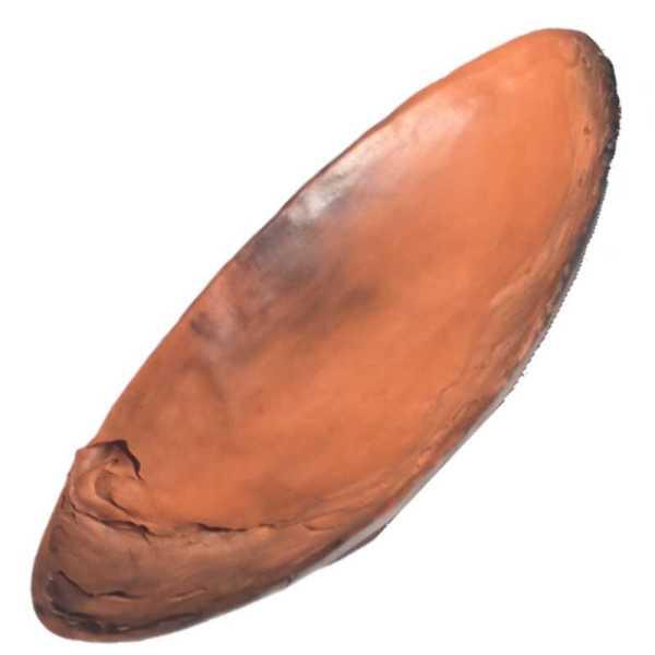 plat-marron-terre-polie
