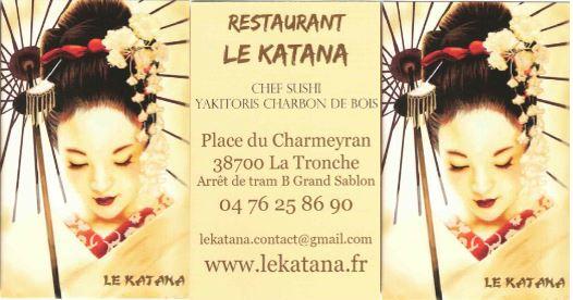 sophie raku en exposition au restaurant le katana