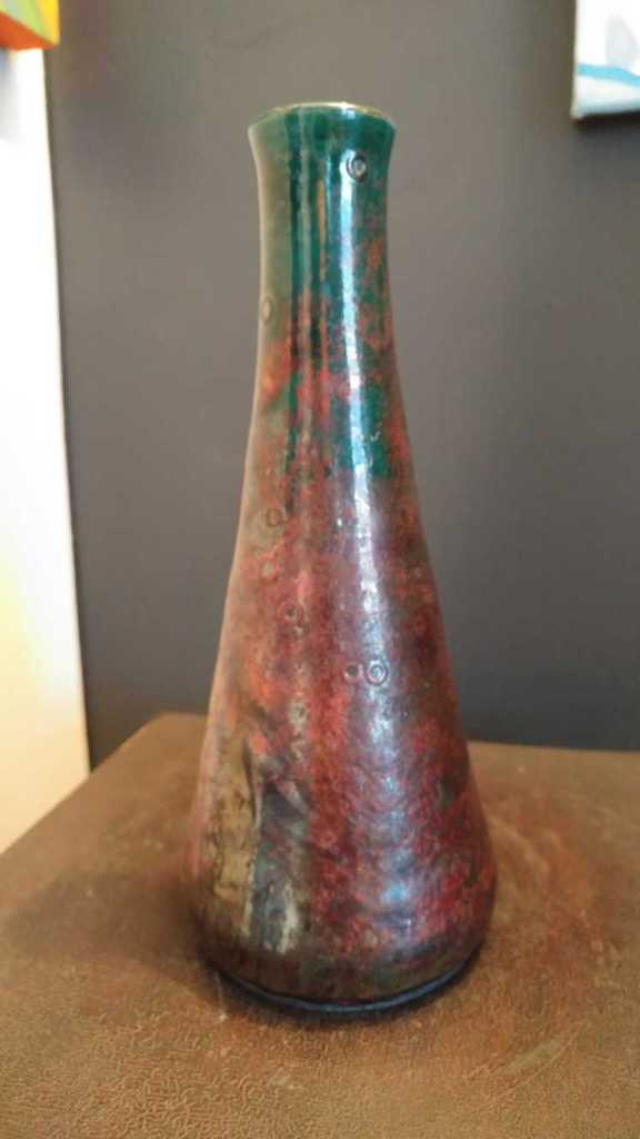 Raku Vase, Draught of Peace