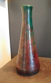 raku vase draught of peace