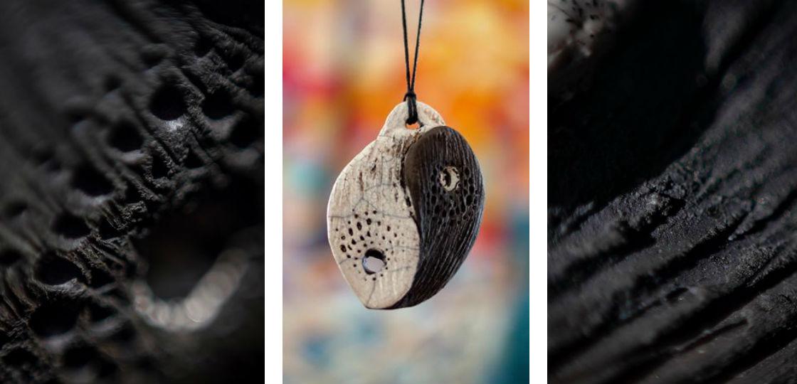 Raku Pottery Jewelry Handmade Ceramic Gift