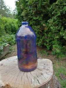 raku pottery vase - Louwala -Clough