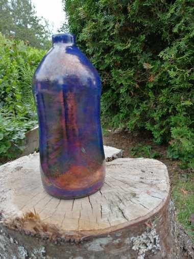 Raku pottery vase - Louwala-Clough