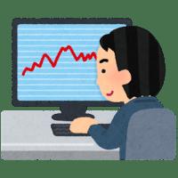 いらすとや 「株のイラスト「グラフを見るトレーダー」」