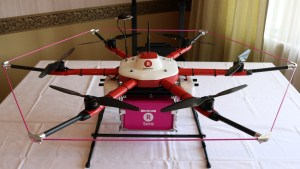 "The ""Tenku"" drone, jointly developed by Rakuten and ACSL"