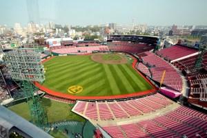 A view of Rakuten Kobo Stadium Miyagi from the Ferris Wheel