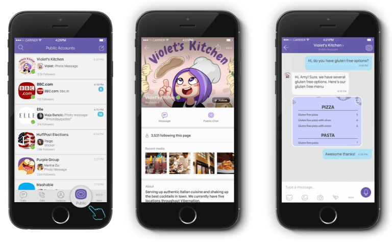 Viber public accounts - a new way to reach brands