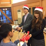 Rakuten employees in Japan delivering presents and cards to children in foster homes