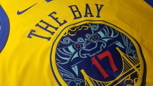Golden State Warriors x Nike NBA City Edition Chinese Heritage Jerseys - chest logo - The Bay