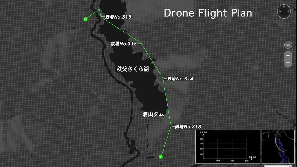 The drone highway used in the Chichibu demonstration.