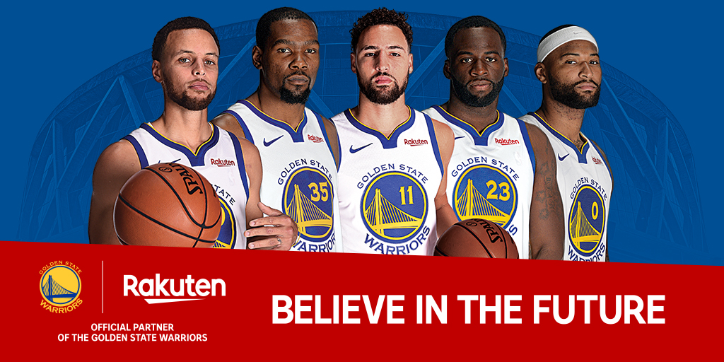 When the Warriors kick off their regular season on October 16, they will do so with the new Rakuten logo on their chest.