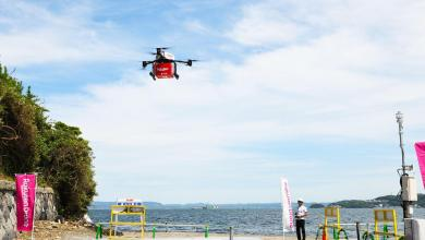 Stuck on a desert island with nothing to eat or drink? Rakuten's new drone delivery service is the first in Japan to offer regular drone deliveries to consumers on a remote island.