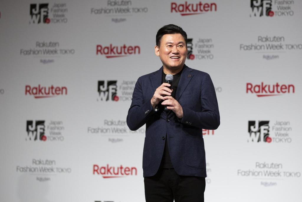 """Tokyo fashion faces a challenge in balancing the needs of the local market while also showcasing to the world what it's capable of,"" Rakuten CEO Mickey Mikitani told members of the media."""
