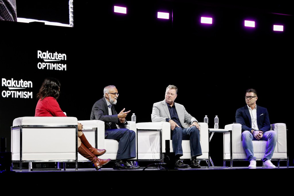 Executives from Cisco, Intel, Altiostar Rakuten Mobile shared their vision for the 5G era on stage at Rakuten Optimism 2019 in San Francisco.
