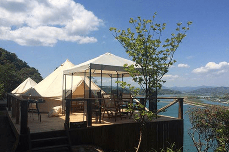 Panoramic views of the Pacific at Kochi Prefecture's Yamamizuki Resort.