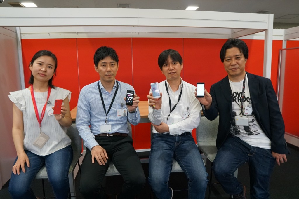 Tadashi Tsukamoto (second from right) with Device Engineering & Operations Department teammates in Tokyo.