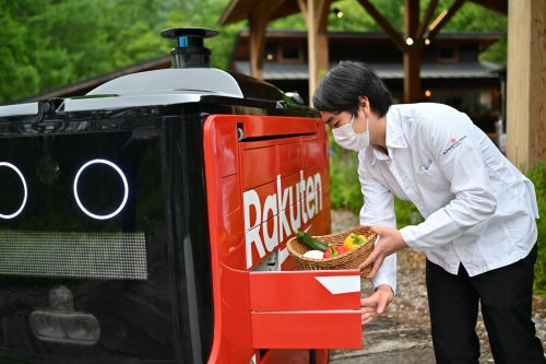 Rakuten UGV delivers food and peace of mind to glampers