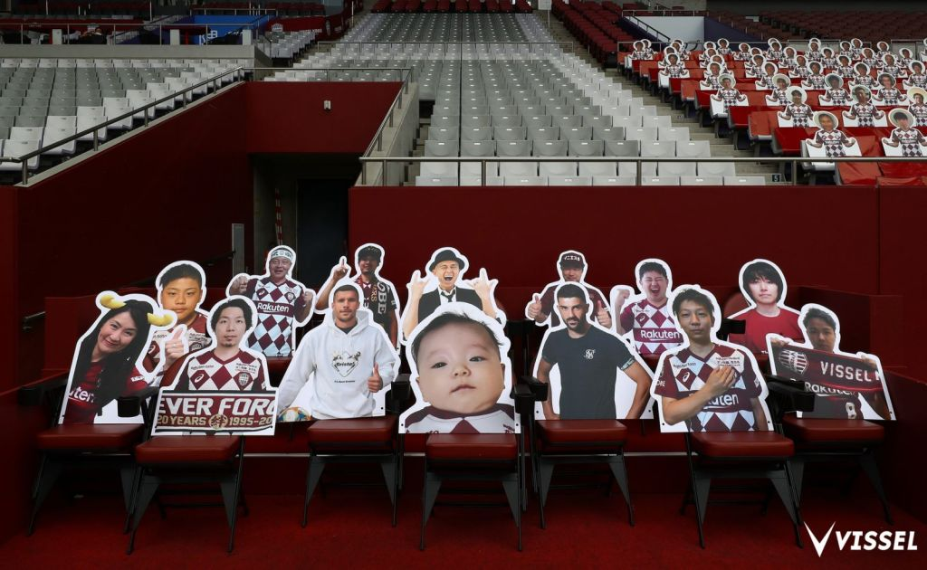 VIP ticket holders were invited to take selfies and have their images printed on cutouts to fill the stands and decorate the sidelines.